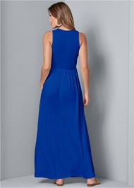 Back View Maxi Dress With Pockets
