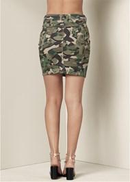 Back View Color Mini Jean Skirt