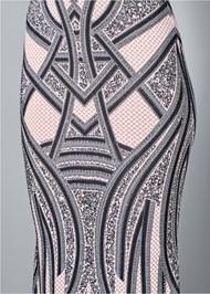 Alternate View Embellished Long Dress