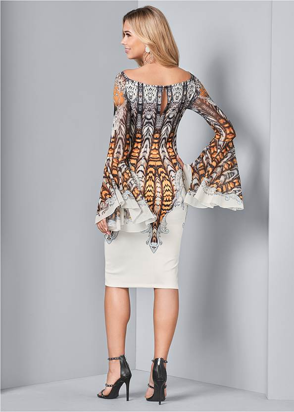 Back View All Over Print Dress