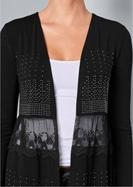 Alternate View Embellished Lace Cardigan