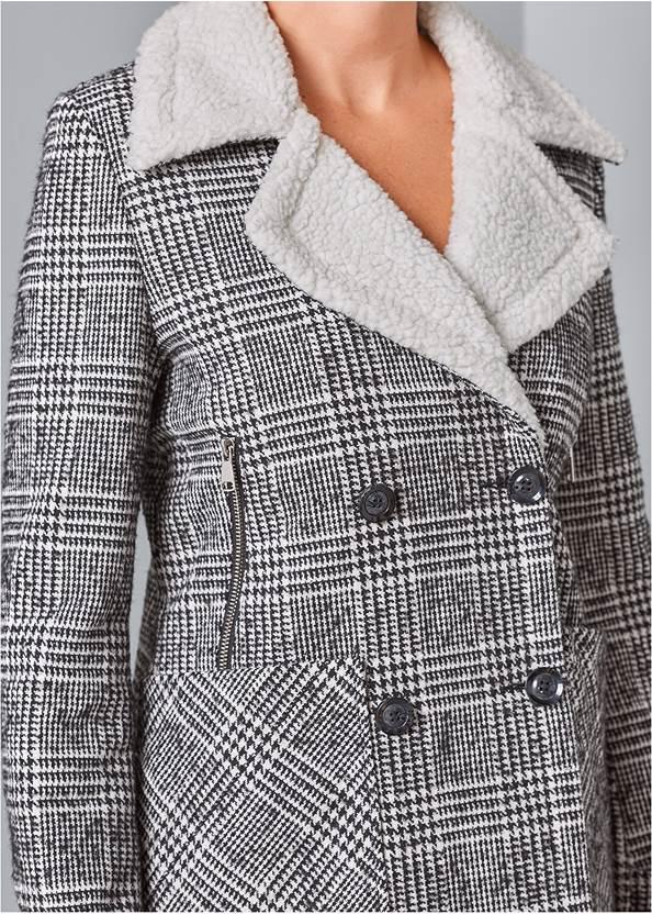 Alternate View Faux Shearling Trim Coat