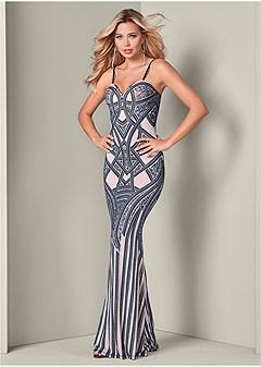 embellished long dress