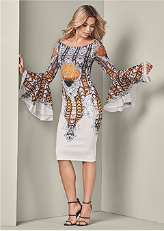 all over print dress