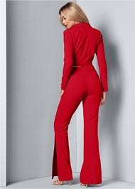 Back View Flare Pants Suit Set