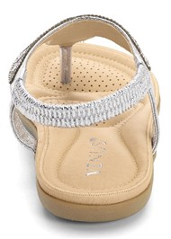 Back View Sparkle Thong Sandals