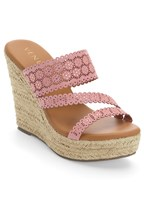 perforated wedge sandal