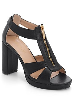 zip up block heels