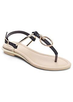 ring detail sandals