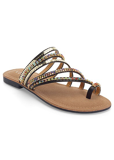 Strappy Toe Ring Sandals