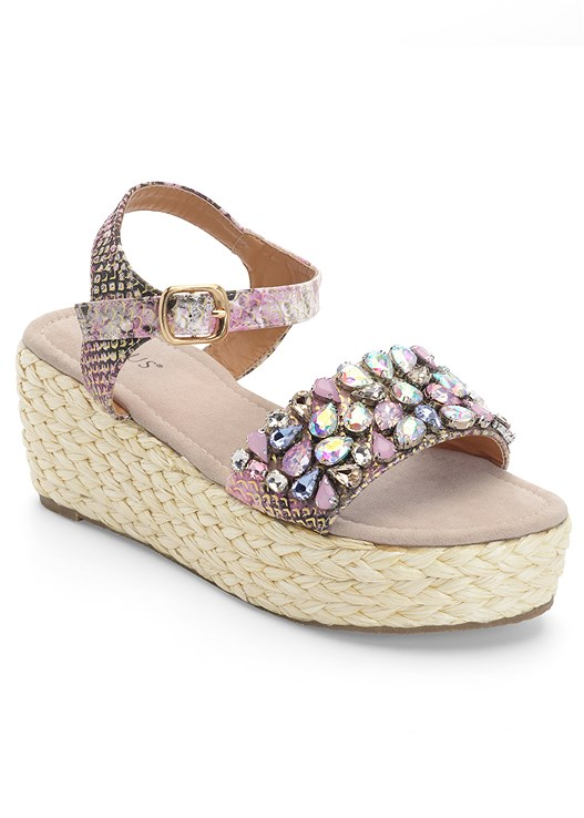 EMBELLISHED PLATFORM WEDGES