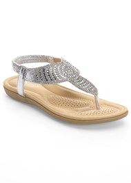 Front View Sparkle Thong Sandals