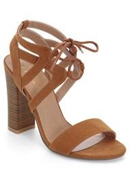 Lace Front Block Heels