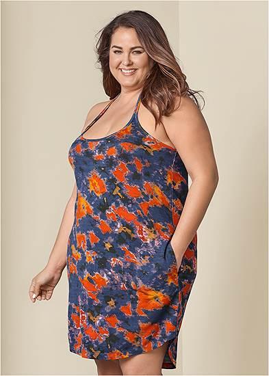 Plus Size Tie Dye Tank Dress