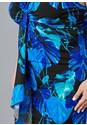Alternate View Drape Detail Print Dress