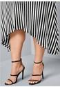 Alternate View Striped Faux Wrap Dress