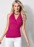 surplice halter top