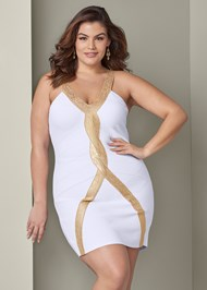 Front View Bandage Bodycon Dress