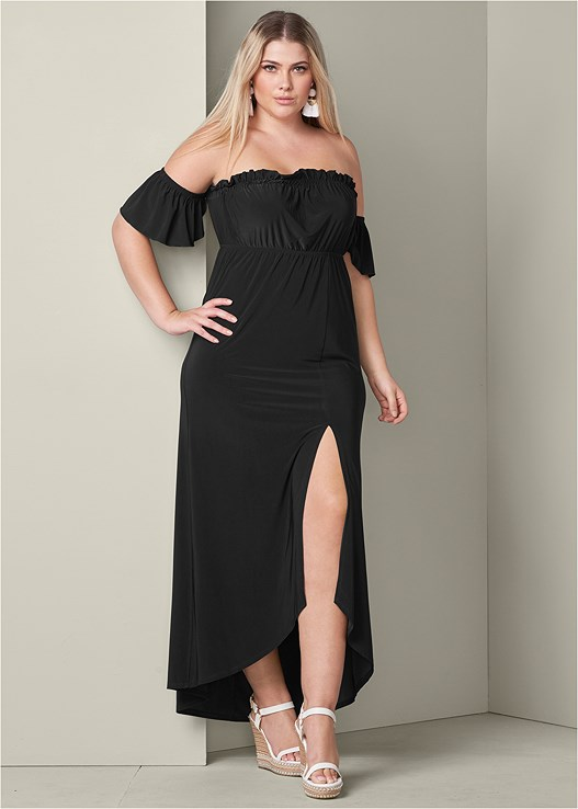 Plus Size OFF THE SHOULDER MAXI DRESS | VENUS