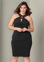 plus size embellished bodycon dress