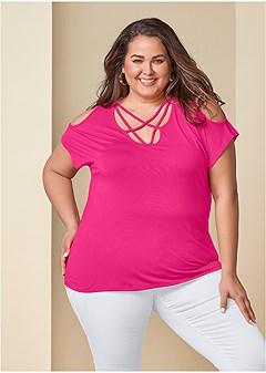 f9ae448239131c Women's Plus Size Tops | Cold Shoulder, Lace & Tank Tops | VENUS