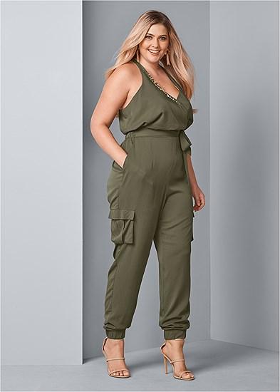 Plus Size Embellished Jumpsuit