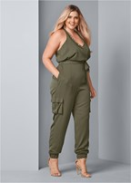 plus size embellished jumpsuit