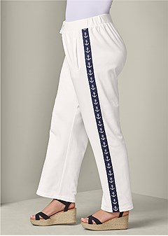 plus size anchor detail lounge pant