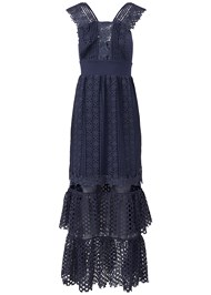 Alternate View Tiered Lace Evening Dress