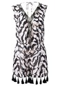 Ghost  view Animal Print Romper