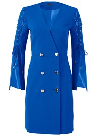 Alternate View Lace Up Coat Dress