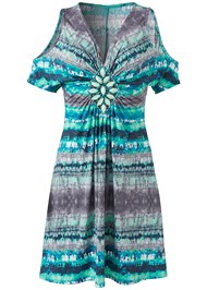 Alternate View Embellished Tie Dye Dress