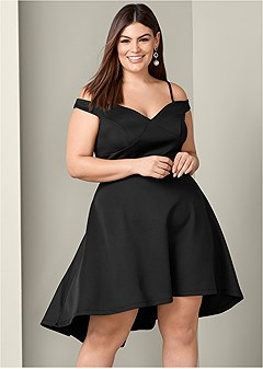 plus size off the shoulder dress