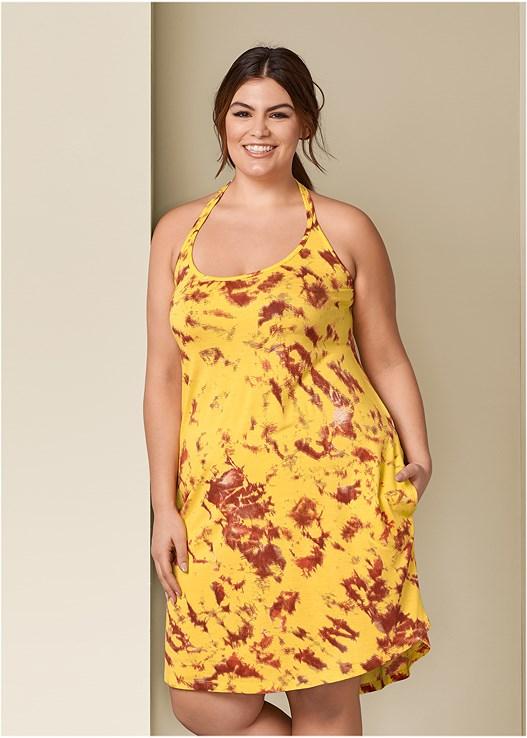 Plus Size TIE DYE TANK DRESS | VENUS