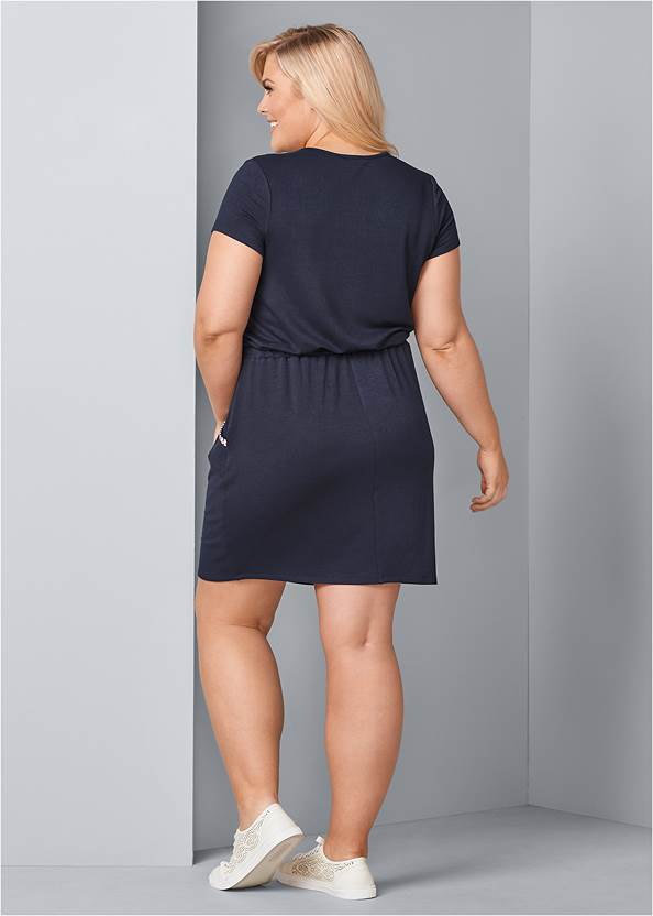 Back View Zip Front Lounge Dress