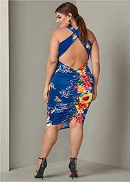 Back View Strappy Back Bodycon Dress
