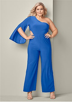 plus size cut out jumpsuit