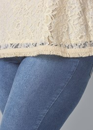 Alternate View Pearl Detail Lace Top