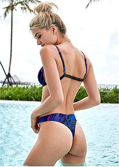 low rise thong swim bottom