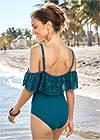 Back View Drip Drop Crochet One-Piece