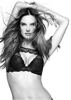 keyhole lace push up bra