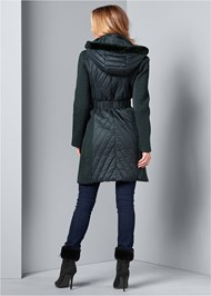 Back View Long Puffer Coat