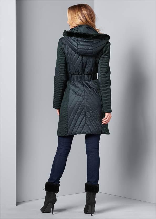 Back View Long Puffer Coat