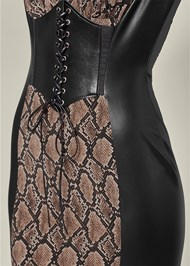 Alternate View Faux Leather Detail Dress
