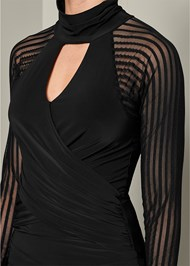 Alternate View Mesh Detail Surplice Tunic