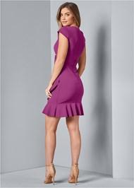 Back View Ruffle Detail Dress