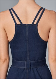 Alternate View Denim Dress With Zipper