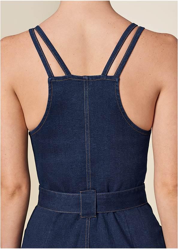 Alternate View Denim Dress With Zipper