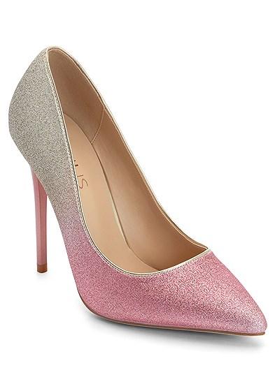 ombre glitter heels