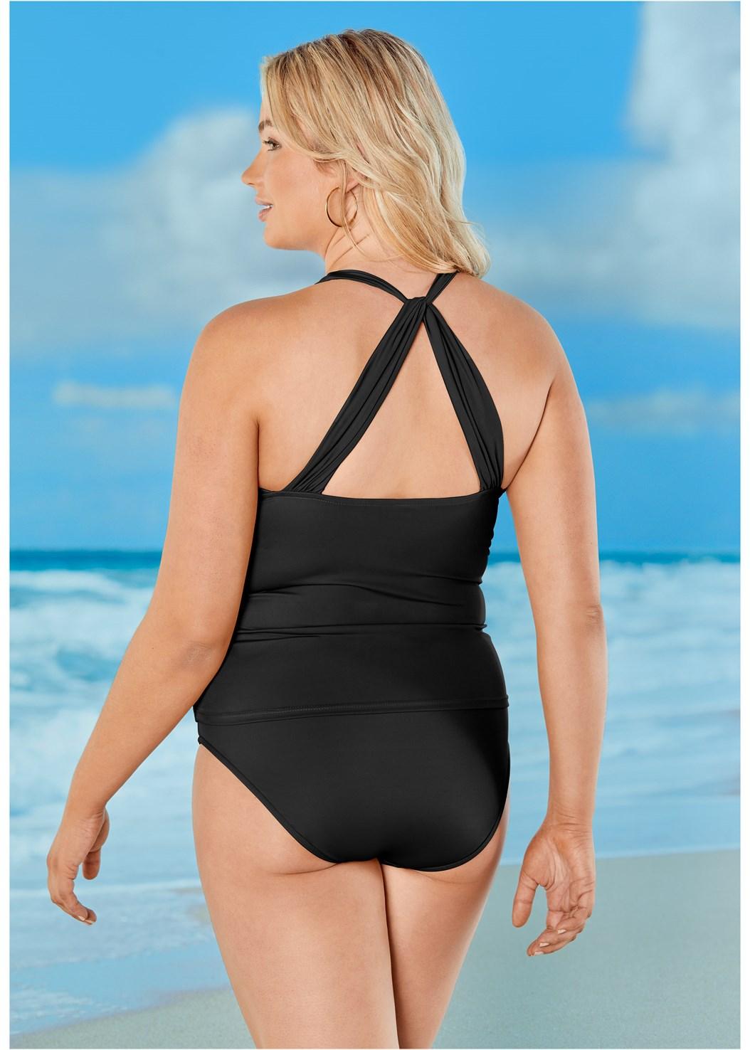 Smoothing V-Back Tankini,Full Coverage Mid Rise Hipster Bikini Bottom,Leila High Waist Bottom,Skirted Swim Bikini Bottom,Gathered Neckline Dress